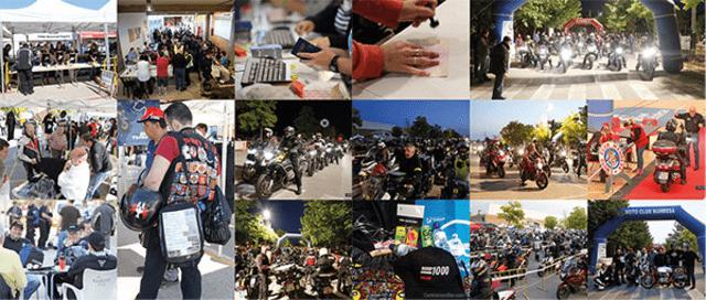 Más de 1.200 motoristas se dieron cita en la Rider 1000