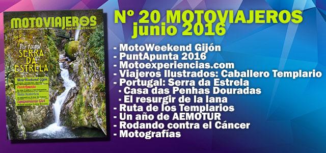 Nº 20 Motoviajeros // Junio 2016
