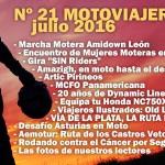 Nº 21 Motoviajeros // Julio 2016