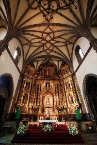 Vía de la Plata: retablo mayor de la Iglesia de la Candelaria, Zafra.