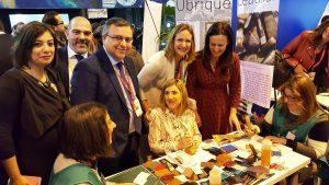 Fitur 2017: la presidenta de la Diputación de Cádiz, junto a la alcaldesa y concejales de Ubrique.