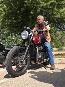 Ted Simon, fotografía de Roberto Peregrín.