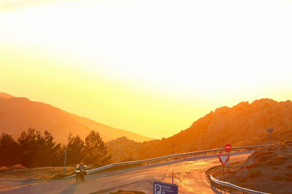 Sierra Nevada en moto.