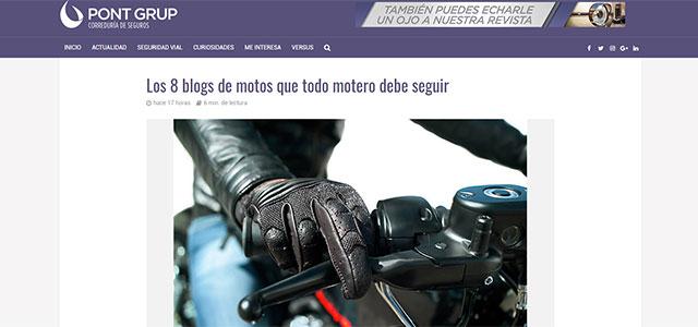 Motoviajeros, entre los 8 mejores blogs de moto