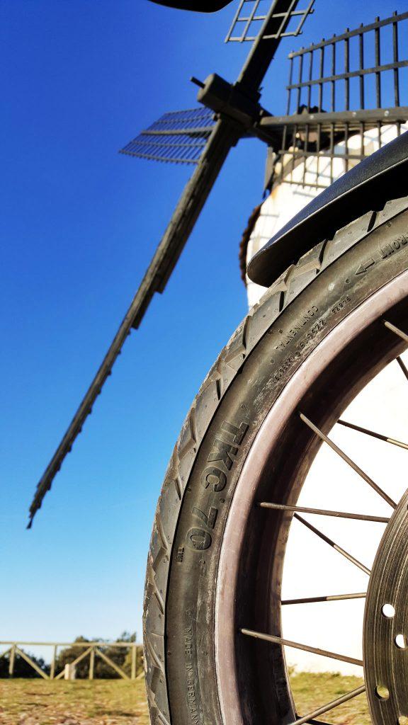 Detalle del flanco de los neumáticos Continental TKC 70,