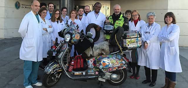 Pamplona-Dakar en Vespa