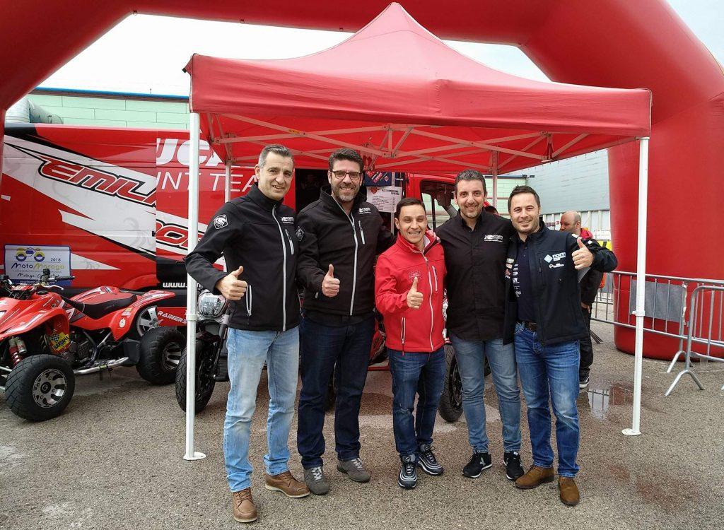 Emilio Zamora y el equipo de ROM - Rutas Organizadas en Moto / Foto: Alicia Tobas