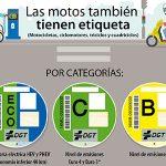 La DGT clasifica las motos en función de su potencial contaminante