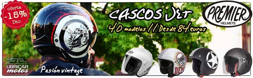 Cascos jet Premier: pasión vintage, oferta en Ubricarmotos.com
