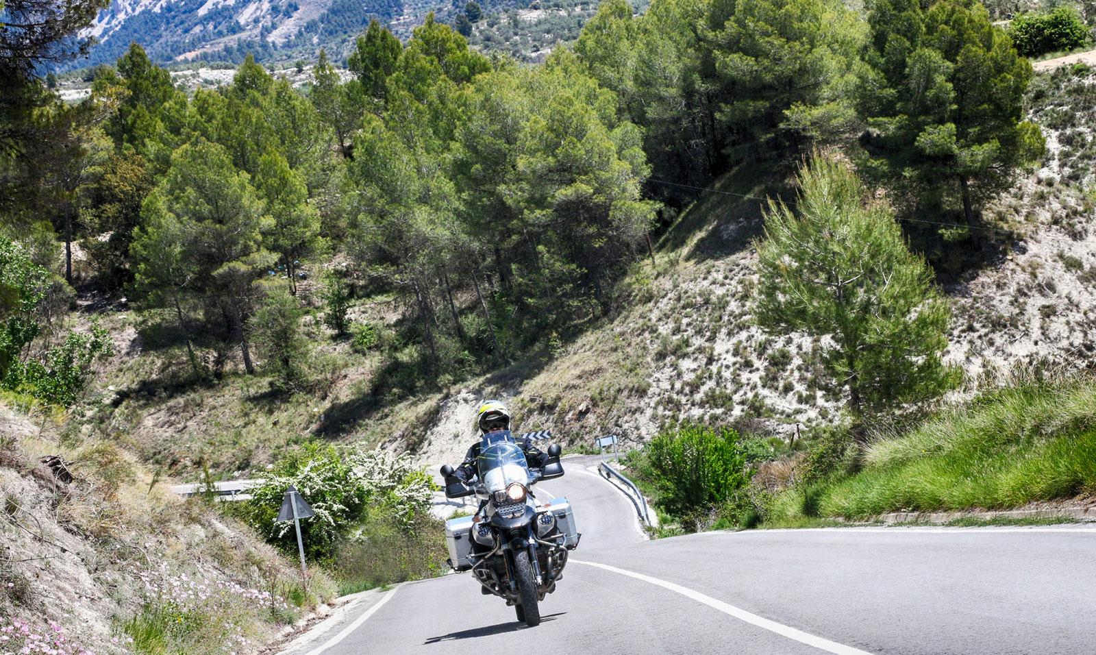 Ruta motera por España.