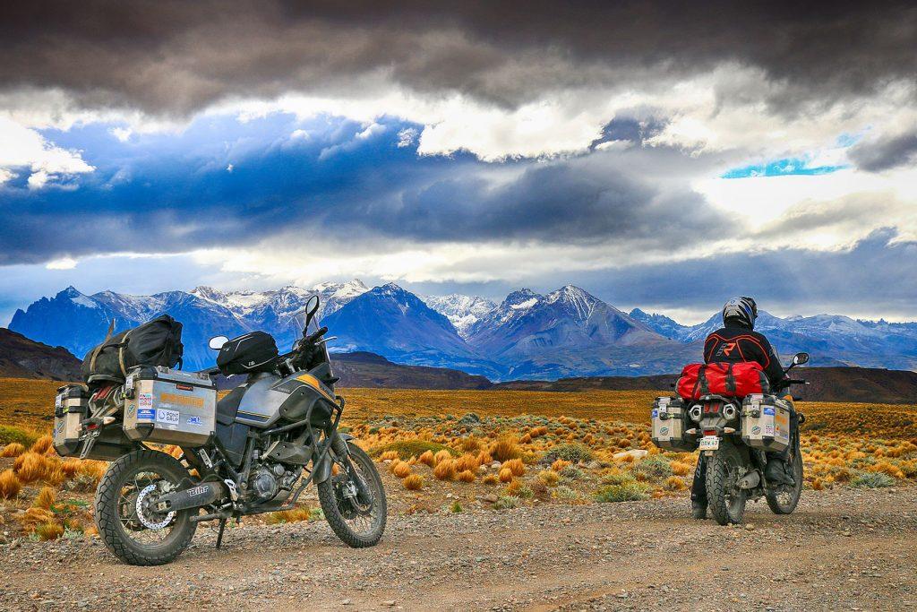Atravesando los Andes en moto.