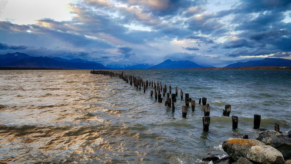 Atardecer en Puerto Natales.