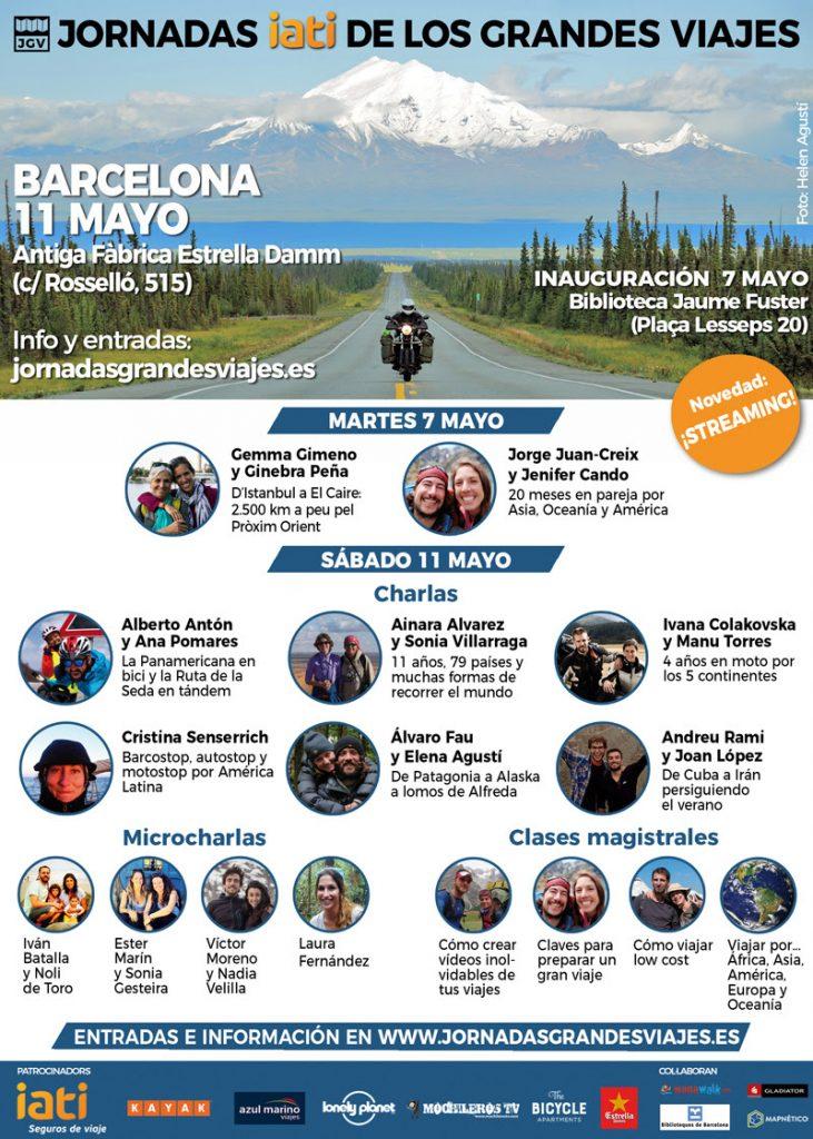 Dos grandes viajes en moto, protagonistas de las Jornadas IATI de los grandes viajes de Barcelona