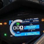 Panel TFT de la Moto Guzzi V85TT.