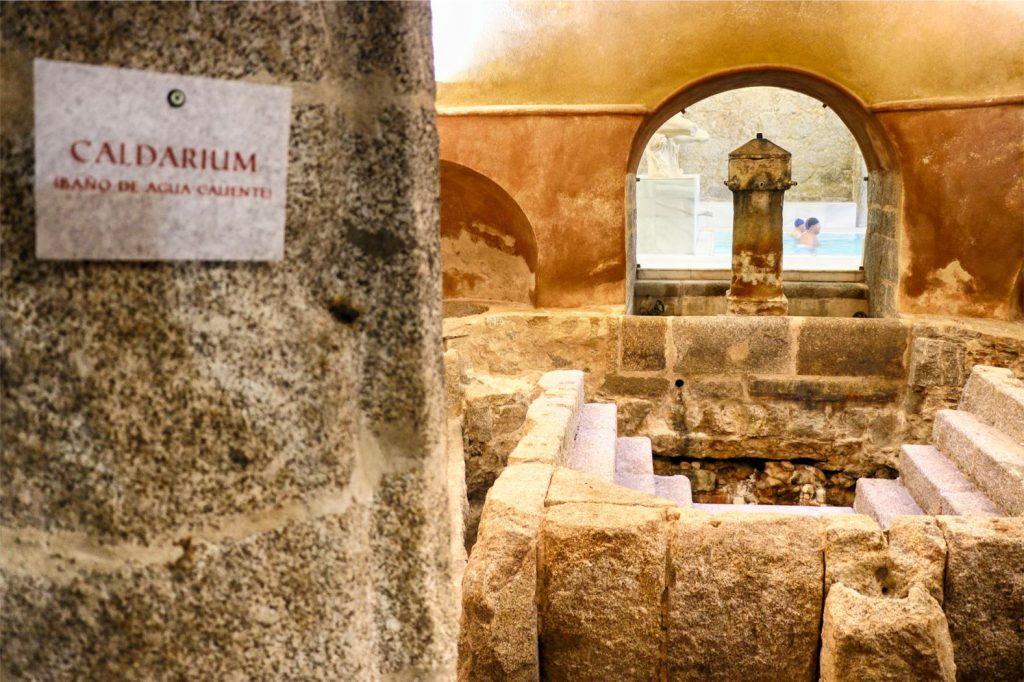 Termas romanas en Baños de Montemayor.
