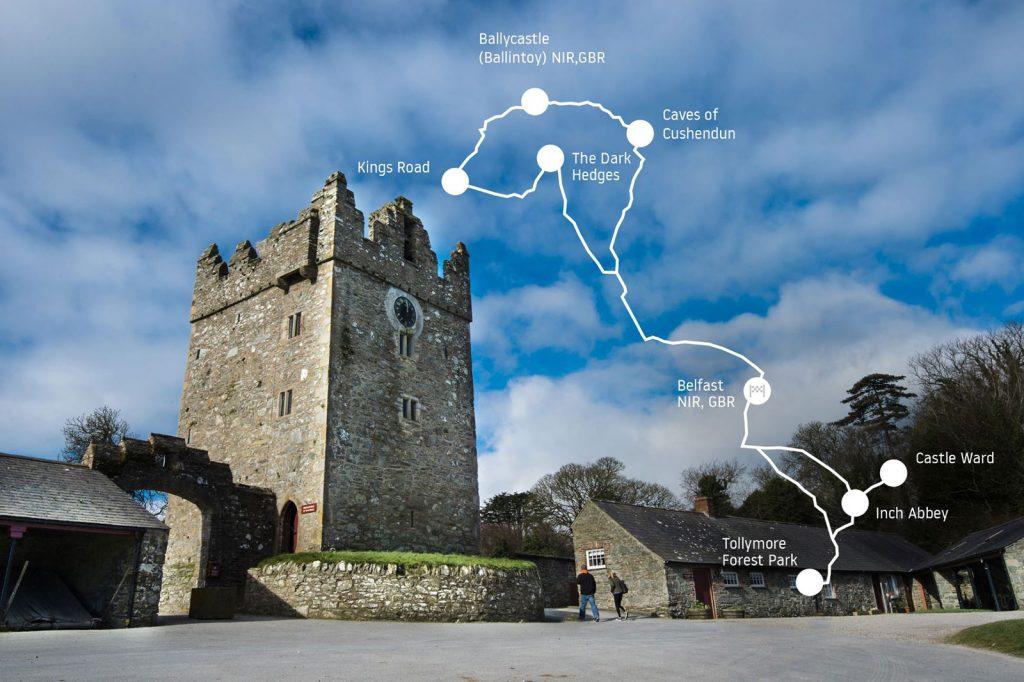 Castle Ward Winterfell: ruta juego de Tronos.