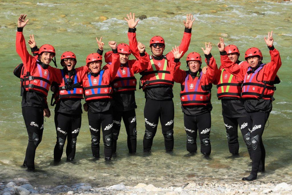 Rafting en Eslovenia.
