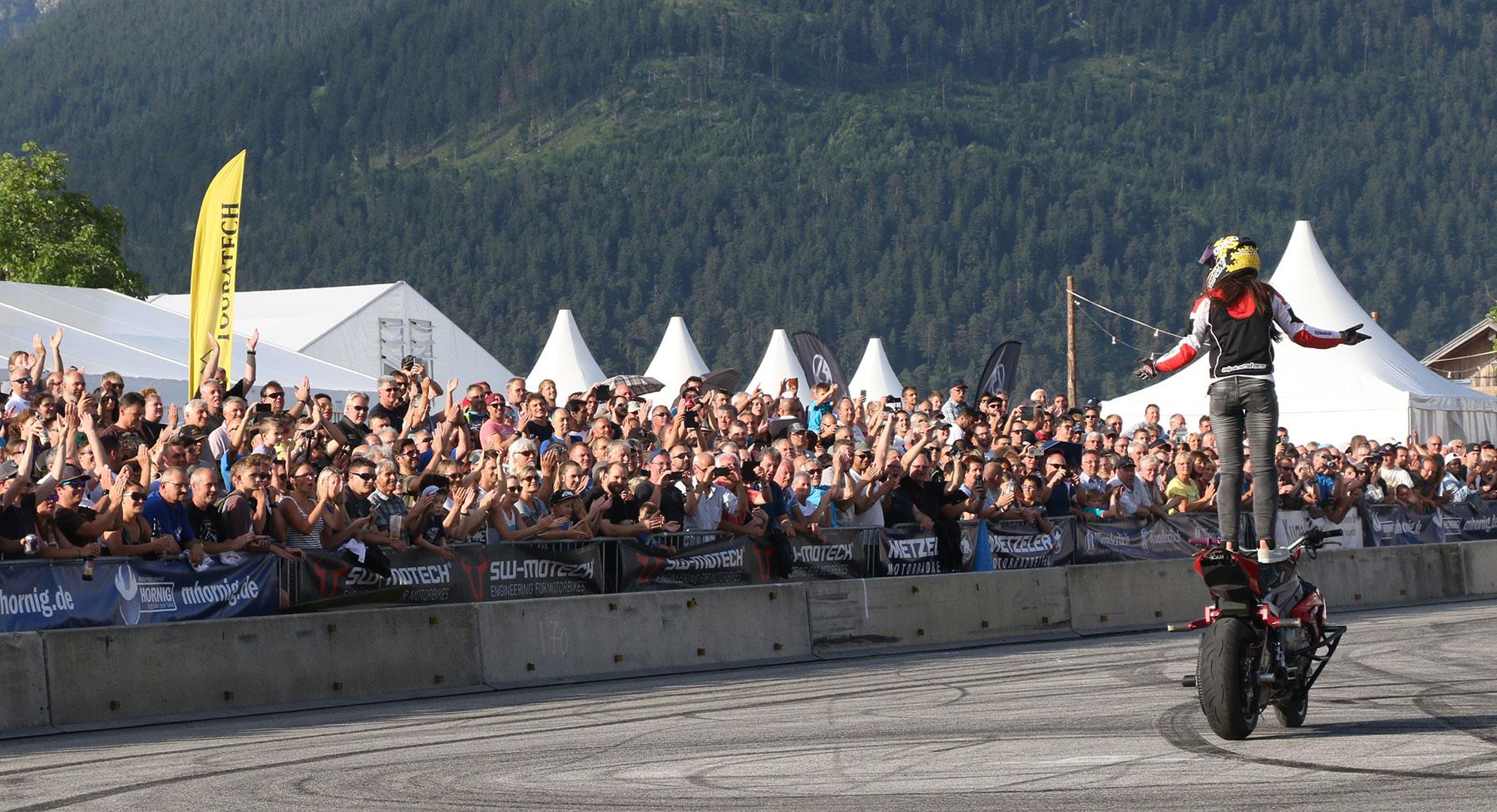 Sarah Lezito en los BMW Motorrad Days.