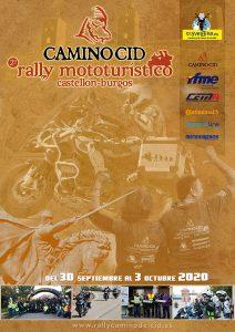 Cartel Rally Mototurístico Camino del Cid.