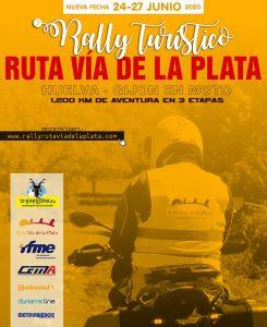 Cartel Rally Mototurístico Rally Ruta Vía de la Plata.