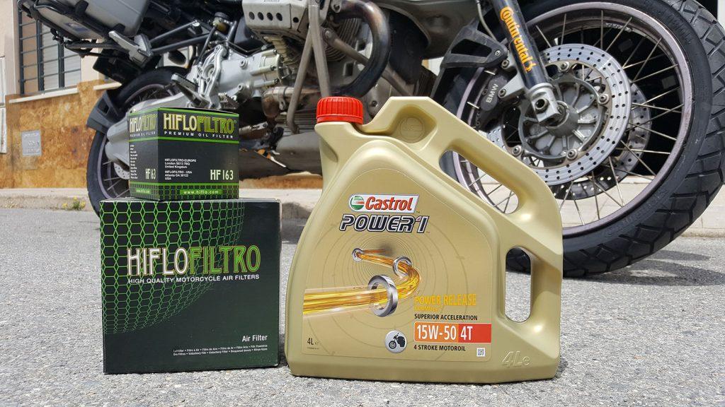 Sustitución de filtro y aceite de motor.