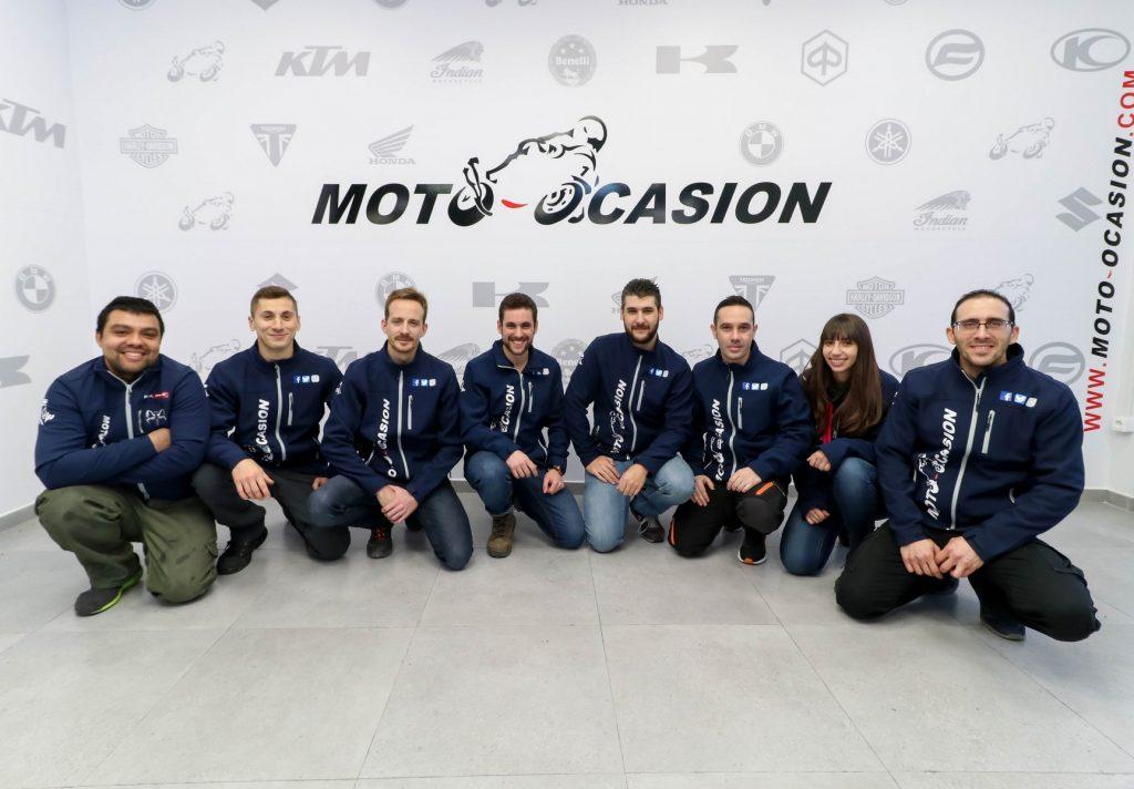 El equipo de Moto-Ocasión.