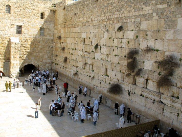 JERUSALEM MURO LAMENTACIONES DESDE ARRIBA
