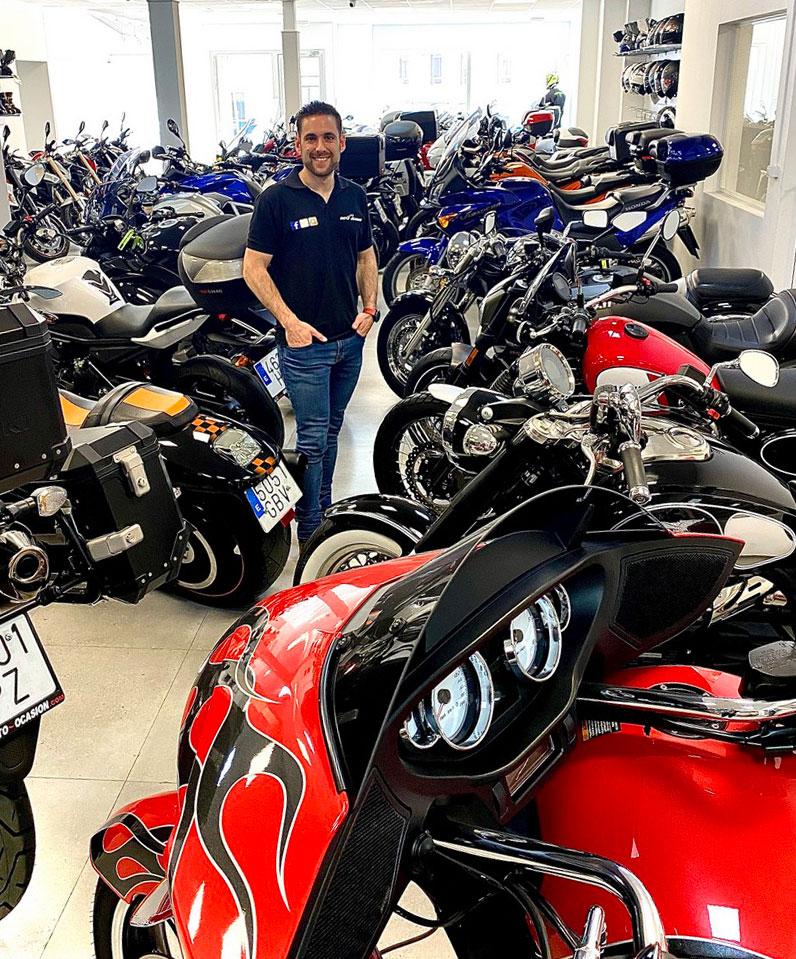 Moto-Ocasión ronda con un stock permanente que ronda las 100 motos.