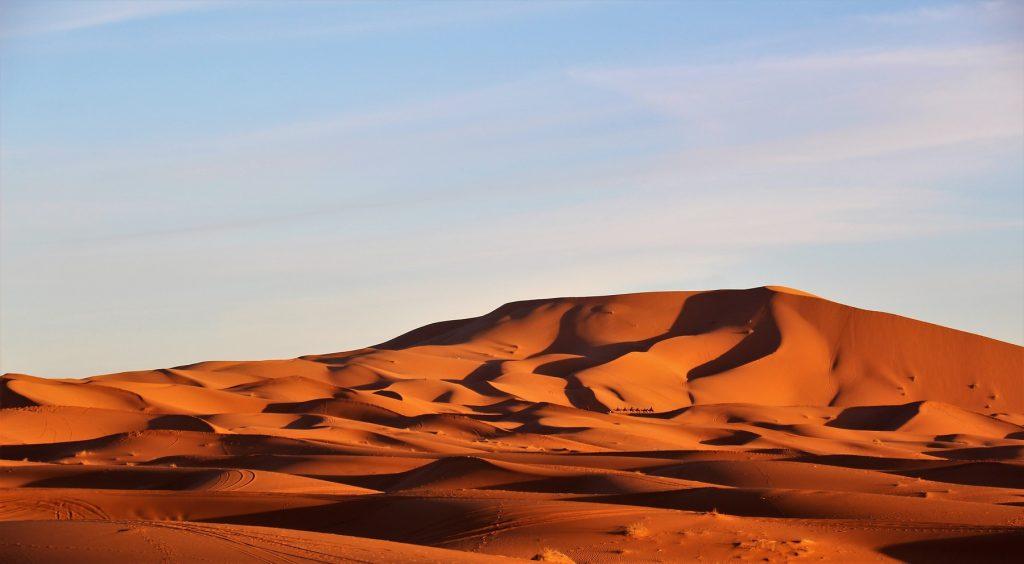 Dunas de Erg Chebbi, en el Sahara.