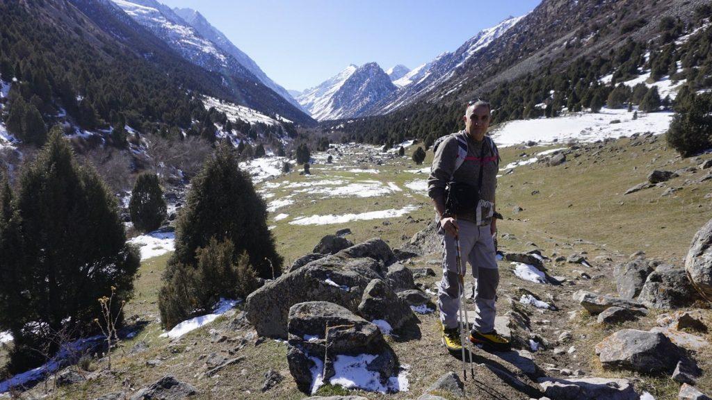 Ricard Tomás y un trekking con magníficas vistas.