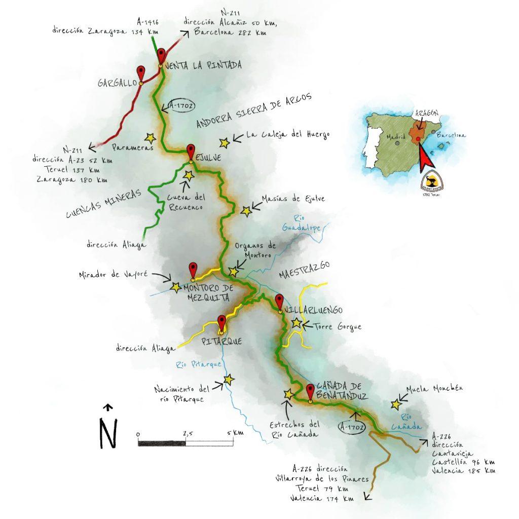 The Silent Route en moto: mapa.