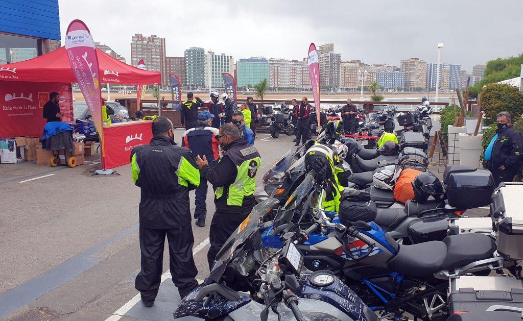 Rally Ruta Vía de la Plata: parque cerrado en Gijón.
