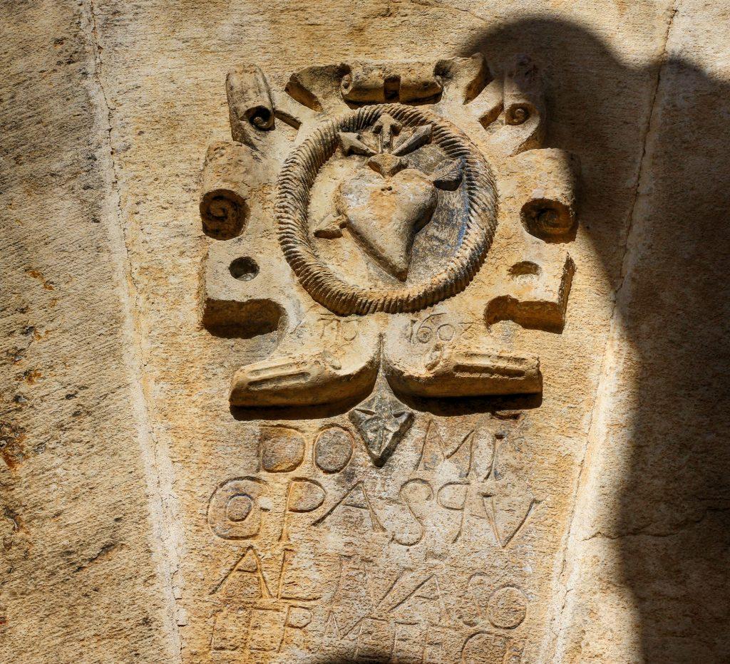 Detalle de la Casa Felicitas, en Ejulve.