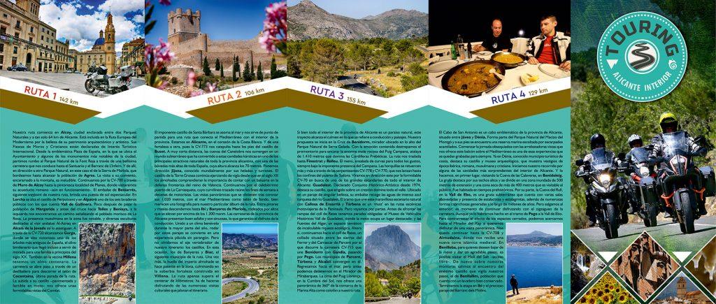 Folleto informativo del Touring Alicante Interior.