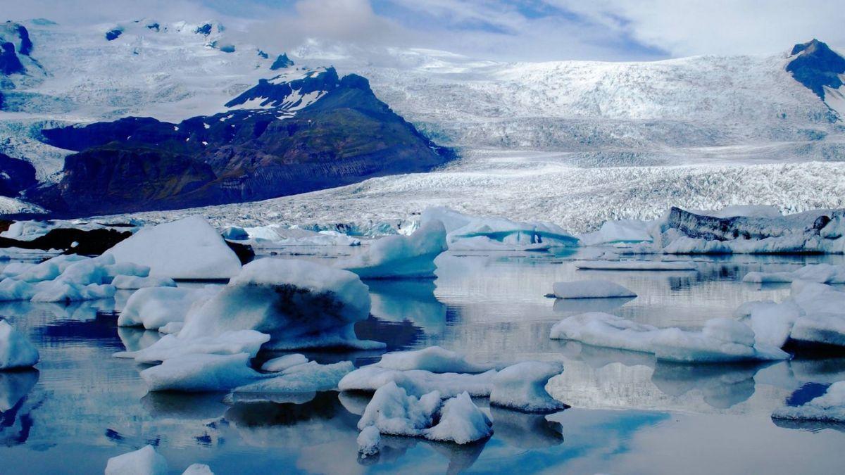 Lengua Breiðamerkurjökull del glaciar de Islandia