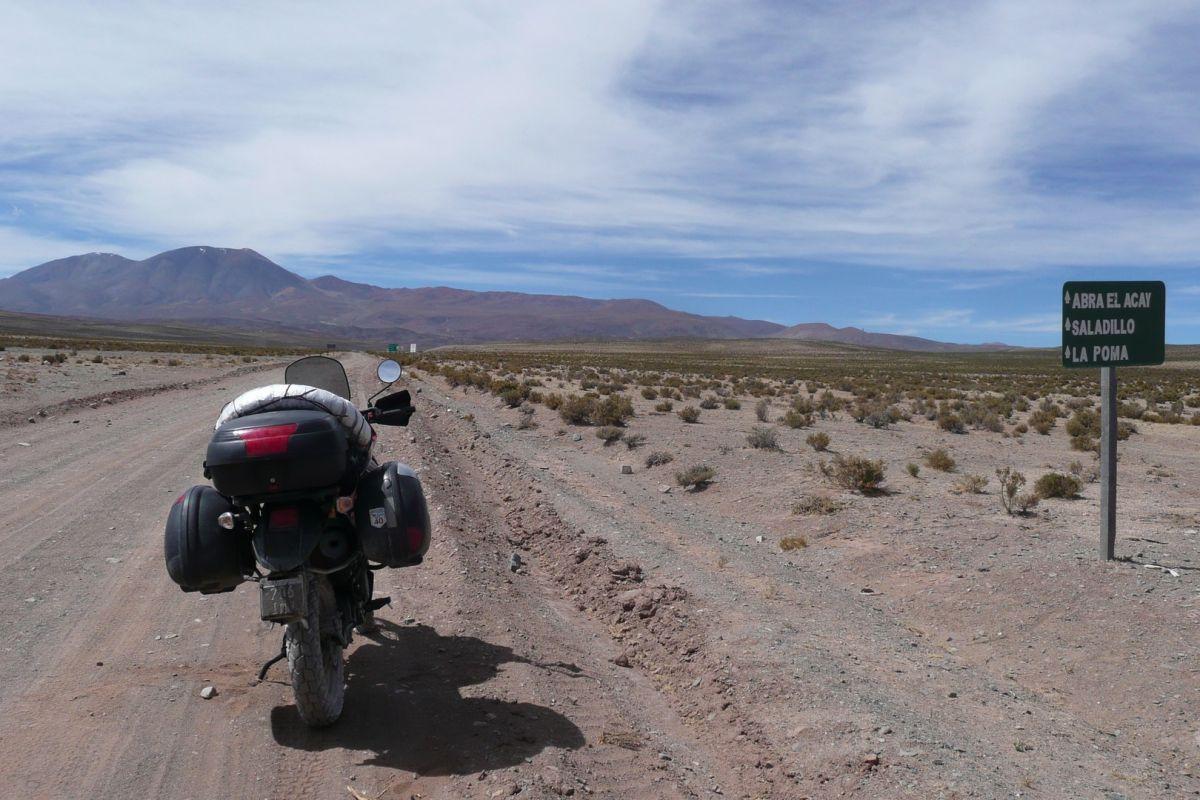 El paso del Abra El Acay es el punto más alto de la ruta 40