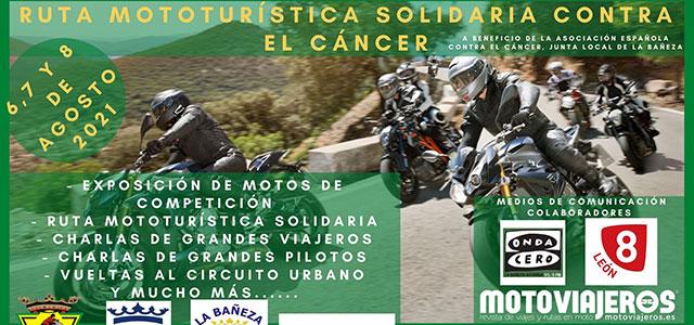 Cartel de lujo para el encuentro mototurístico de La Bañeza