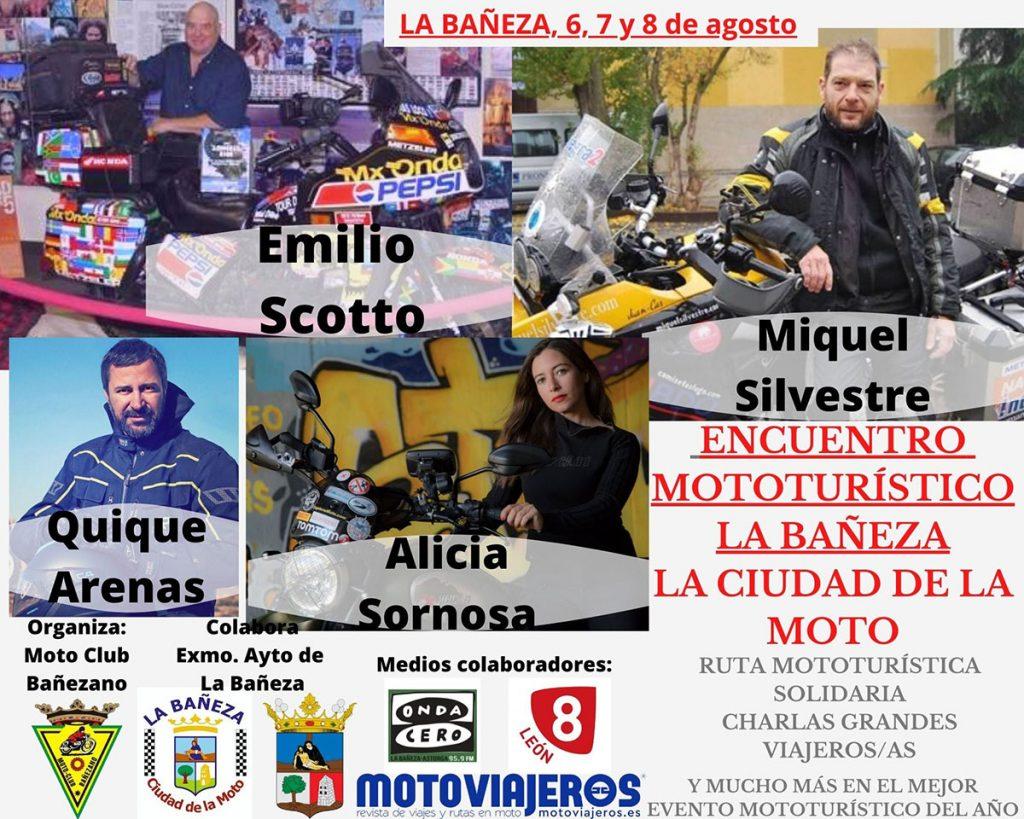 Cartel Encuentro Mototurístico La Bañeza